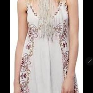 NWT Free People Embroidered V Neck  Dress